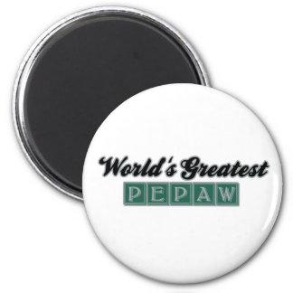 World' s el Pepaw más grande (verde) Imán Redondo 5 Cm