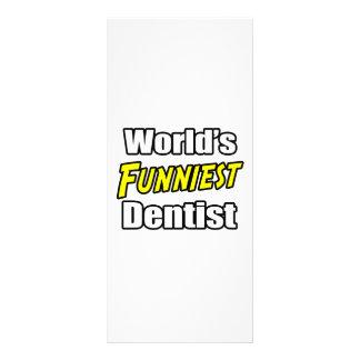 World s Funniest Dentist Customized Rack Card