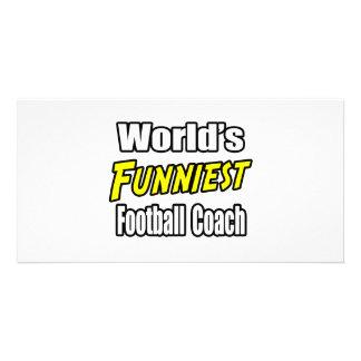 World s Funniest Football Coach Photo Card Template