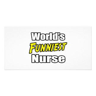 World s Funniest Nurse Photo Card Template