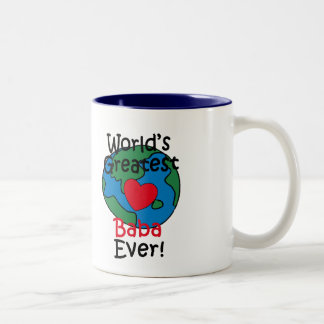 World's Greatest Baba Heart Two-Tone Coffee Mug