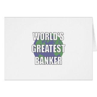 World s Greatest Banker Card