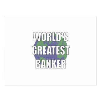 World s Greatest Banker Postcards