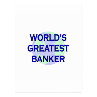 World s Greatest Banker Post Cards