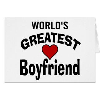 World s Greatest Boyfriend Card