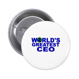 World s Greatest CEO Pinback Buttons