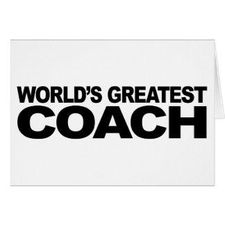 World s Greatest Coach Cards