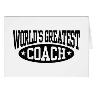 World s Greatest Coach Greeting Cards