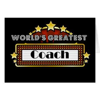 World s Greatest Coach Greeting Card