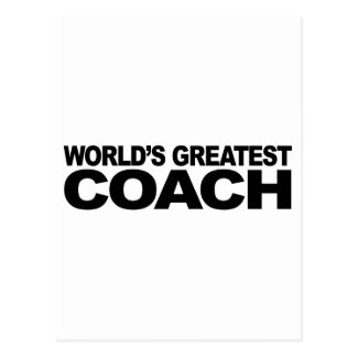 World s Greatest Coach Postcard