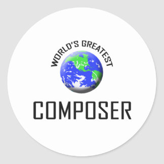 World s Greatest Composer Stickers