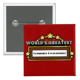 World s Greatest Computer Programmer Pinback Button