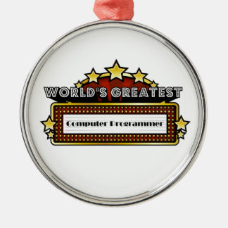 World s Greatest Computer Programmer Christmas Ornaments