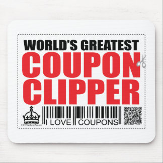 World s Greatest Coupon Clipper Mouse Pads