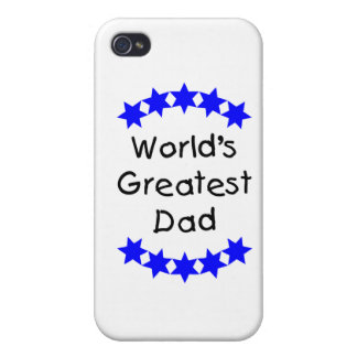 World s Greatest Dad blue stars iPhone 4 Case