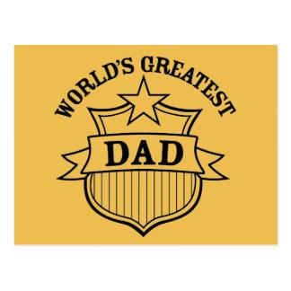 "world""s greatest dad design postcard"