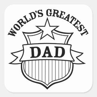 "world""s greatest dad design square sticker"