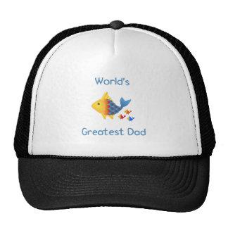 World s Greatest Dad fish Hats