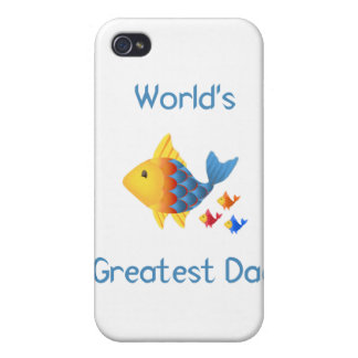 World s Greatest Dad fish Case For iPhone 4