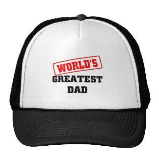World s greatest dad mesh hat