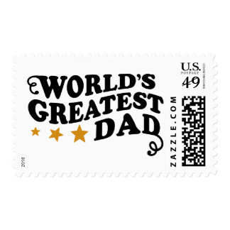 World s Greatest Dad Stamps