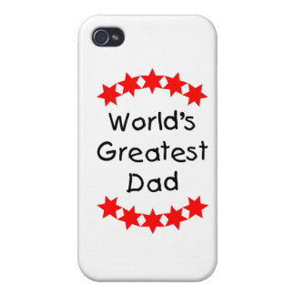 World s Greatest Dad red stars iPhone 4/4S Cover
