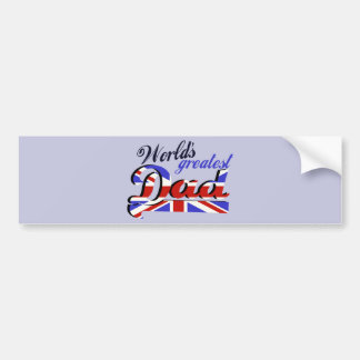 World s Greatest Dad with English flag Bumper Stickers