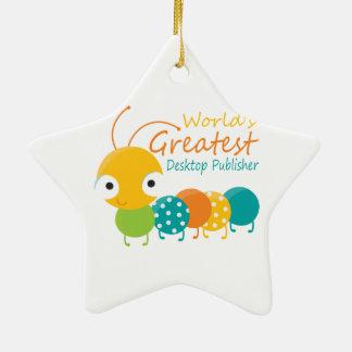 World s Greatest Desktop Publisher Christmas Tree Ornaments