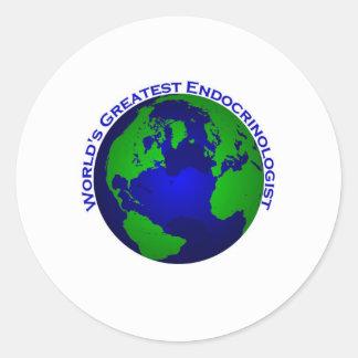 World;s Greatest Endocrinologist Classic Round Sticker