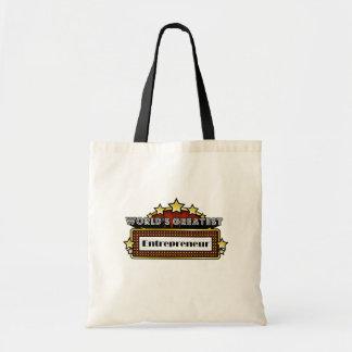 World s Greatest Entrepreneur Canvas Bag