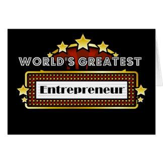 World s Greatest Entrepreneur Cards