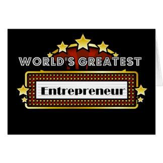 World s Greatest Entrepreneur Greeting Cards