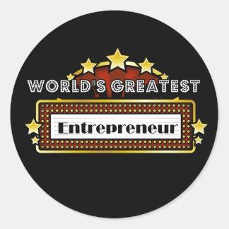 World s Greatest Entrepreneur Round Sticker