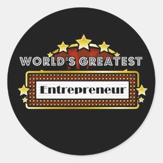 World s Greatest Entrepreneur Sticker