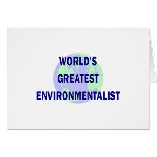 World s Greatest Environmentalist Greeting Cards