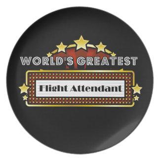 World s Greatest Flight Attendant Dinner Plate