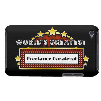 World s Greatest Freelance Paralegal iPod Touch Case