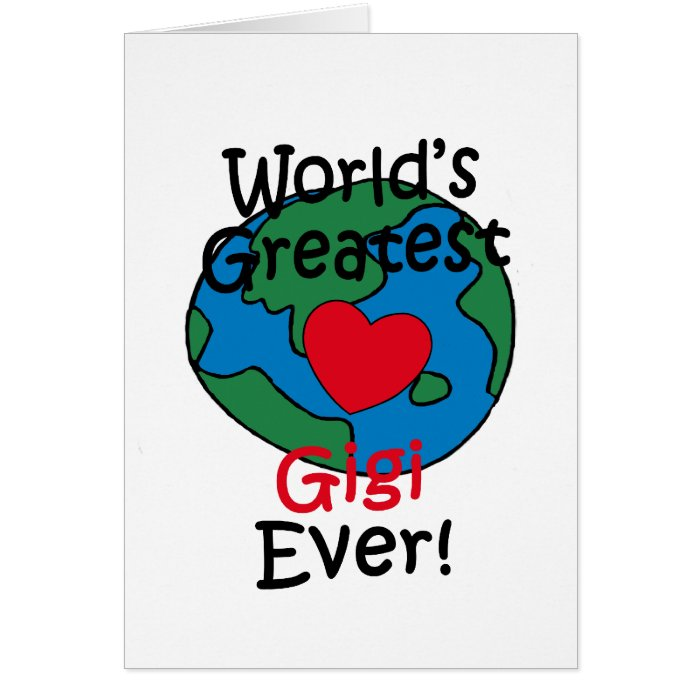 World's Greatest Gigi Heart Card
