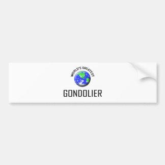World s Greatest Gondolier Bumper Stickers