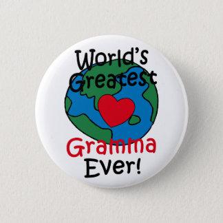 World's Greatest Gramma Heart Pinback Button