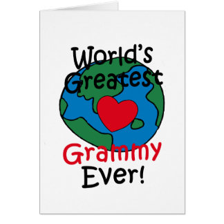World's Greatest Grammy Heart Card
