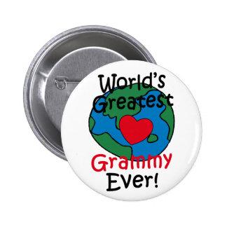 World's Greatest Grammy Heart Pinback Button