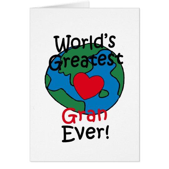 World's Greatest Gran Heart Card