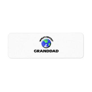 World s Greatest Granddad Custom Return Address Label