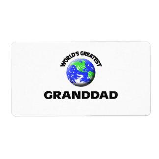 World s Greatest Granddad Custom Shipping Label
