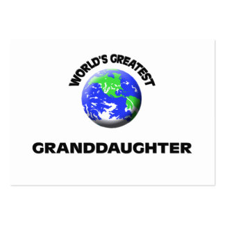 World s Greatest Granddaughter Business Cards