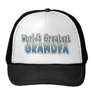 World s Greatest Grandpa Words Mesh Hats