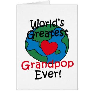 World's Greatest Grandpop Heart Card