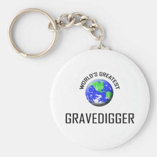 World s Greatest Gravedigger Keychains
