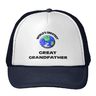 World s Greatest Great Grandfather Mesh Hat